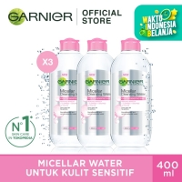 Garnier Micellar Water Pink 400ml Pack of 3