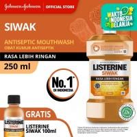 (GRATIS Siwak 100ml) LISTERINE® Siwak Mouthwash / Obat Kumur 250ml