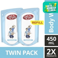 Lifebuoy Sabun Cair Cool Fresh Refill 450ml Twin Pack
