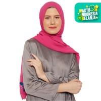 Saung Parigel Pashmina Wanita Motif Bunga - Pink