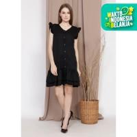Yoenik Apparel Corta Little Wrinkle Dress Black M15428 R45S