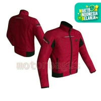 Jaket Motor Contin Provoke Red ( Ori ) Untuk Harian Full Safety Bod