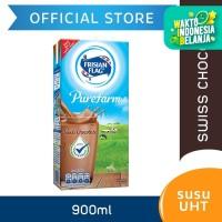 Frisian Flag Purefarm Susu UHT Swiss Chocolate 900ml