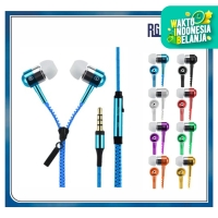 Handsfree / Headset Zipper Resleting / Earphone Ziper EXTRA BASS + MIC
