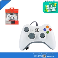Stik Stick Controller Xbox 360 Wired Warna Putih Kabel