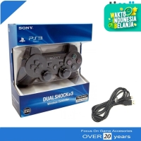 Stik Stick PS3 Wireless Original Ori Pabrik Hitam Plus USB Charger