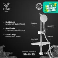 VONE PREMIUM SB-25-SS Shower Tiang Column Mandi Set Rak Sabun Chrome