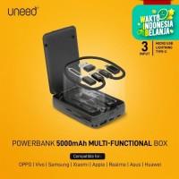 UNEED Powerbank 5.000mAH wth Cable Type C, Micro USB, Lightning UPB201