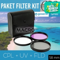FILTER KIT CPL+UV+FLD 58MM
