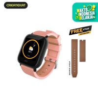 Createkat New Generation Katfit Watch Band - Merah Muda