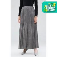 Bawahan Wanita Rok Panjang Wanita Zahra Signature Long Skirt Plisket