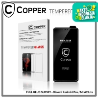Xiaomi Mi A2 Lite - COPPER Tempered Glass Full Glue PREMIUM Glossy