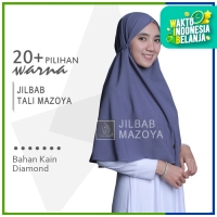 PREMIUM - Jilbab Instan Tali Mazoya Simpel Hijab Non Pet Diamon Crepe