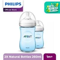 Philips Avent SCF695/23 NATURAL PP 9OZ BOTTLE BLUE TWIN - Biru