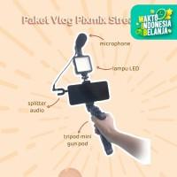 Paket Vlog Microphone + Bonus Windscreen
