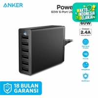 Wall Charger Anker PowerPort 6 USB Black - A2123