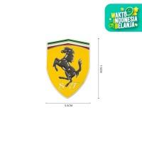 Logo ferrari / Porsche / Lamborghini sticker mobil