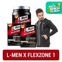 L-Men Platinum 800gr + 2 Box (6 Sch) + FLEXZONE Jacket: Black