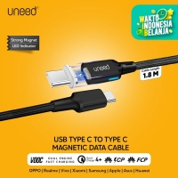 UNEED Kabel Data Magnetic USB Type C to Type C 100W 5A PD VOOC QC 4+