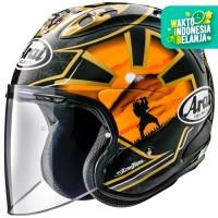 Arai VZ RAM PEDROSA SPIRIT GOLD Original SNI Helm Half Face