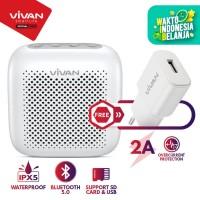 Speaker Bluetooth 5.0 VIVAN Waterproof IPX5 Micro SD VS1 FREE Charger