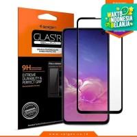 Tempered Glass Galaxy S10e Spigen Glass Full Cover Pelindung Layar HD