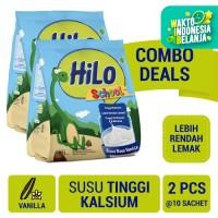 Twin Pack: HiLo School Vanillla Gusset 10 Sch - Susu Tinggi Kalsium