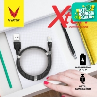 VYATTA XTEN Magnet Cable/Kabel Data Lightning, Anti Kusut, Fast Charge - Hitam