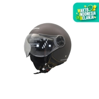 Cargloss YR Ghotic Helm Half Face - Espresso Brown