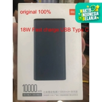 Powerbank Xiaomi Mi Power Bank 3 10000mah18W Fast charge USB Type C - Hitam