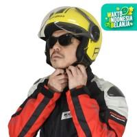 Cargloss YR HC Protect Helm Half Face - Yellow bisa pakai kacamata