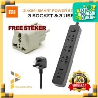 Xiaomi Mi Smart Power Strip Plug Adapter 3 USB 2A Original Free Steker