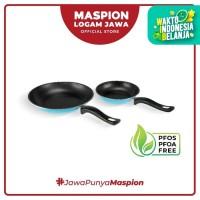 Maspion Frypan Set 18 Cm + 23 Cm 2 Pcs Fancy Biru - Frypan Antilengket