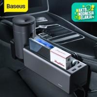 BASEUS FRONT SEAT CAR ORGANIZER STORAGE RAK SAMPING MOBIL CAR CHARGER - Hitam