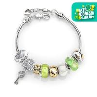 Princess Charm Bracelet - Gelang Crystal Swarovski® by Her Jewellery - Green