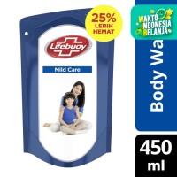 Lifebuoy Body Wash Sabun Mandi Cair Refill Mild Care 450Ml