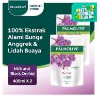 Palmolive Naturals Black Orchid Shower Gel/Sabun Mandi 400ml-Twin Pack