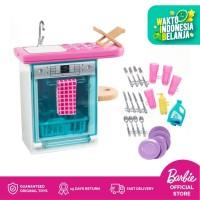 BARBIE Furniture Set Kitchen Dishwasher Playset Boneka Mainan Anak