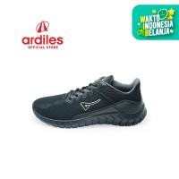 Ardiles Men Lacasate Sepatu Running - Hitam Hitam
