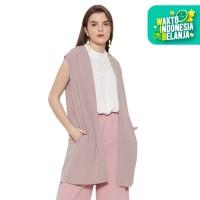 Dayclo Long Outerwear Vest Wanita - Mocca