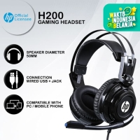 Headset Gaming HP H200 - Blue LED USB+Jack Wired