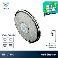 VONE HS-VT102 Shower Set Wall Tembok Mandi Head Kepala Tanam Paket