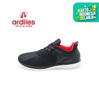 Ardiles Men Miralem Sepatu Running - Hitam Merah