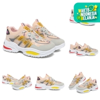 PVN Sepatu Wanita Sneakers Korea Import Casual Shoes Putih New 106