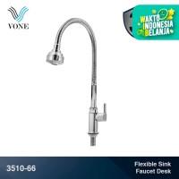 VONE 3510-66 Keran Kran Air Fleksibel Angsa Cuci Piring Tanam Chrome