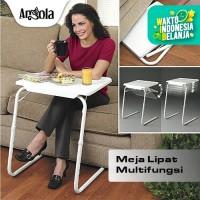 Angola Meja Lipat Portable D25 Meja Laptop/Makan/Belajar Serba Guna - Putih