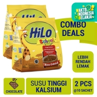 Twin Pack: HiLo School Chocolate Gusset 10 Sch - Susu Tinggi Kalsium