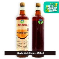 Madu Pramuka - Madu Multiflora 650ml/Botol - Madu Asli - Madu Murni