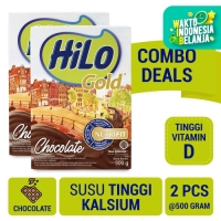 Twin Pack: HiLo Gold Chocolate 500gr - Susu Tinggi Kalsium