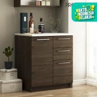 Pro Design Oklava Kabinet Dasar Dapur Dengan 1 Pintu dan 3 Laci